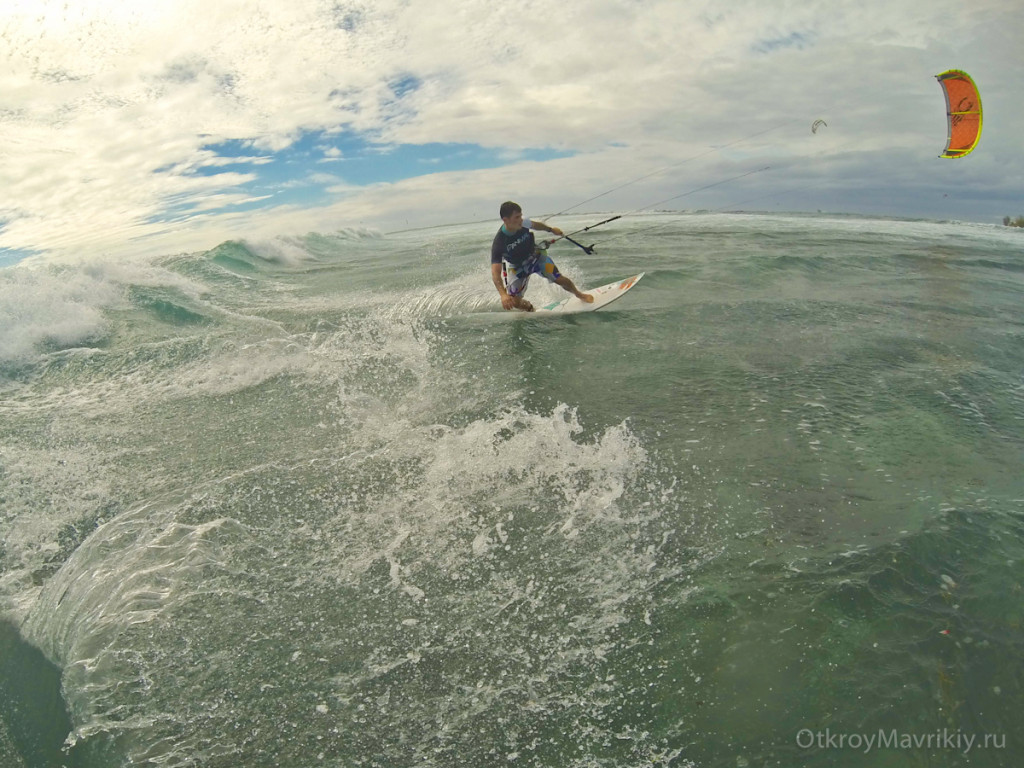 Кайтсерфинг на Малом Рифе: безопасно и легко. Кайтинг на Маврикии