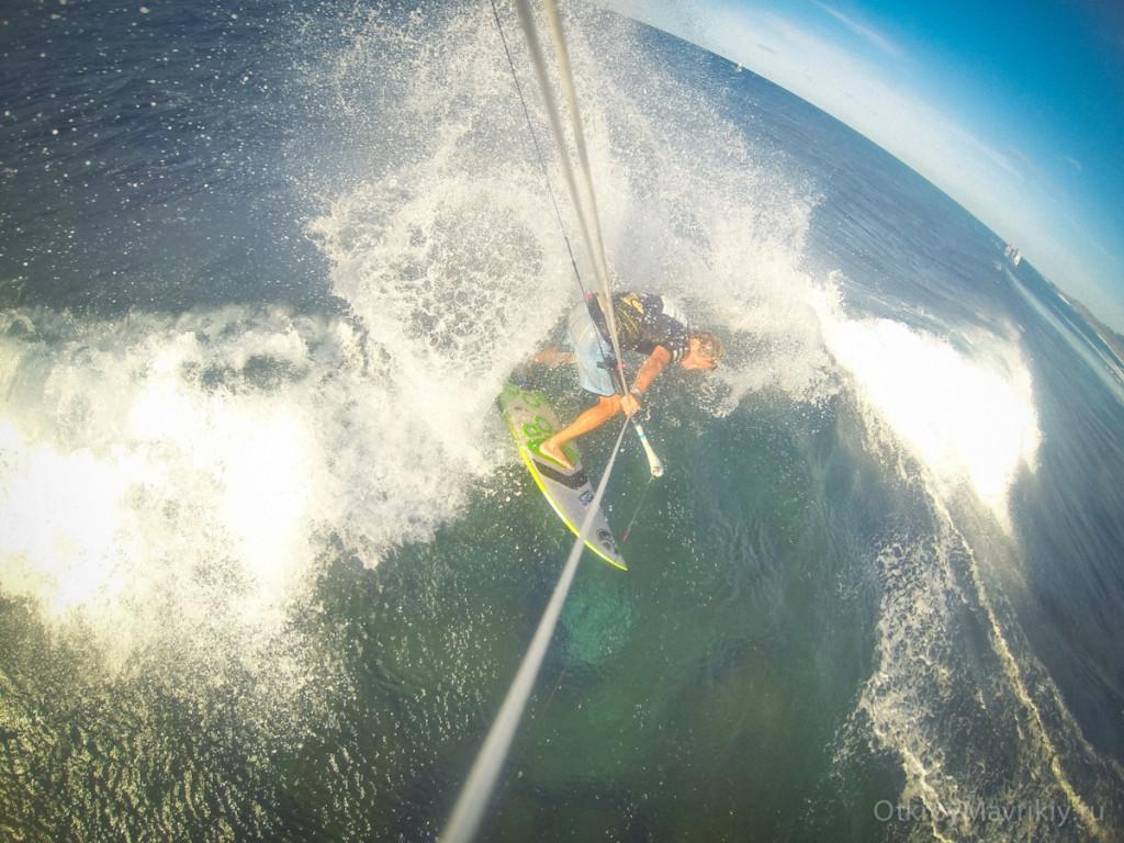 Тест кайта Дрифтер на Чемпионате Мира по кайтсерфингу на Гаваях  - спот Хукипа