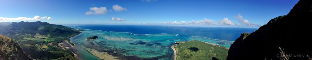 Панорамный вид с горы ЛеМорн - Маврикий