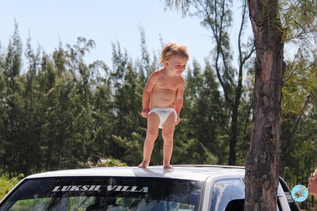 Малыш на Маврикии