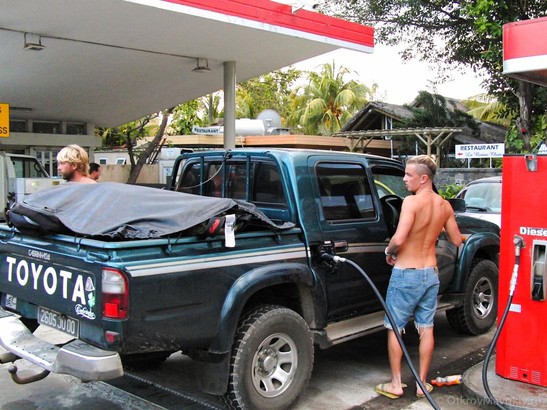 Цена бензина и дизельного топлива на Маврикии