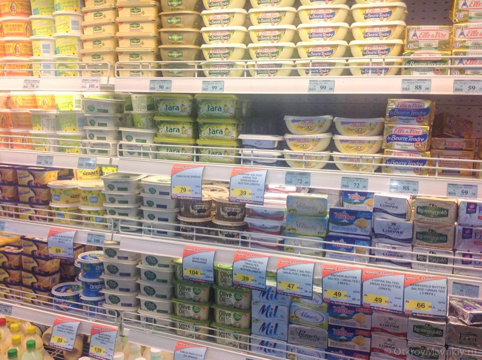 Цена сливочного масла на Маврикии 1,5 евро