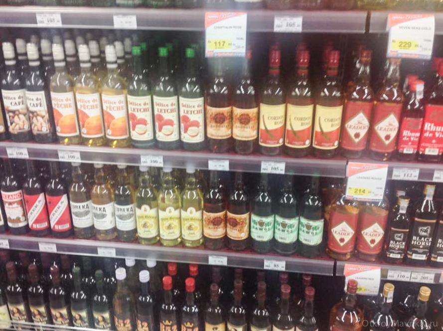 Цены на маврикийский алкоголь