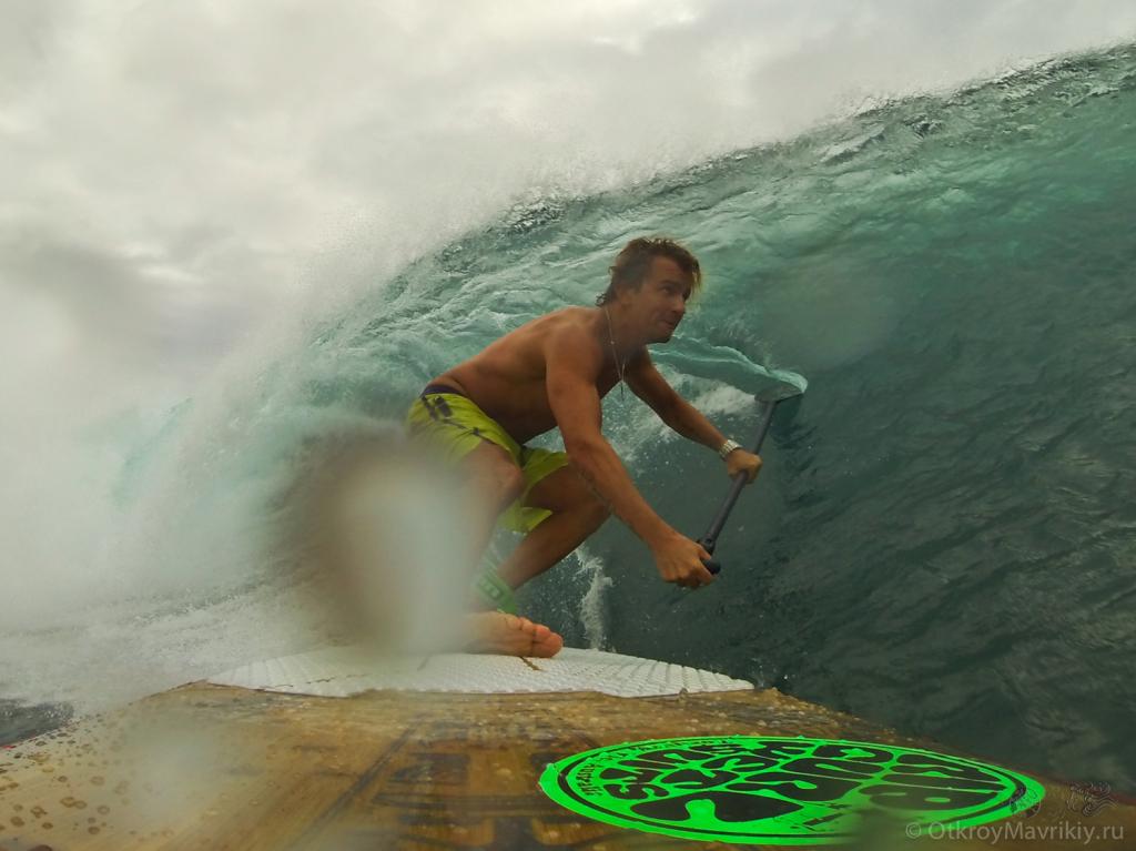 SUP серфинг на Маврикии. Спот Амбуланс