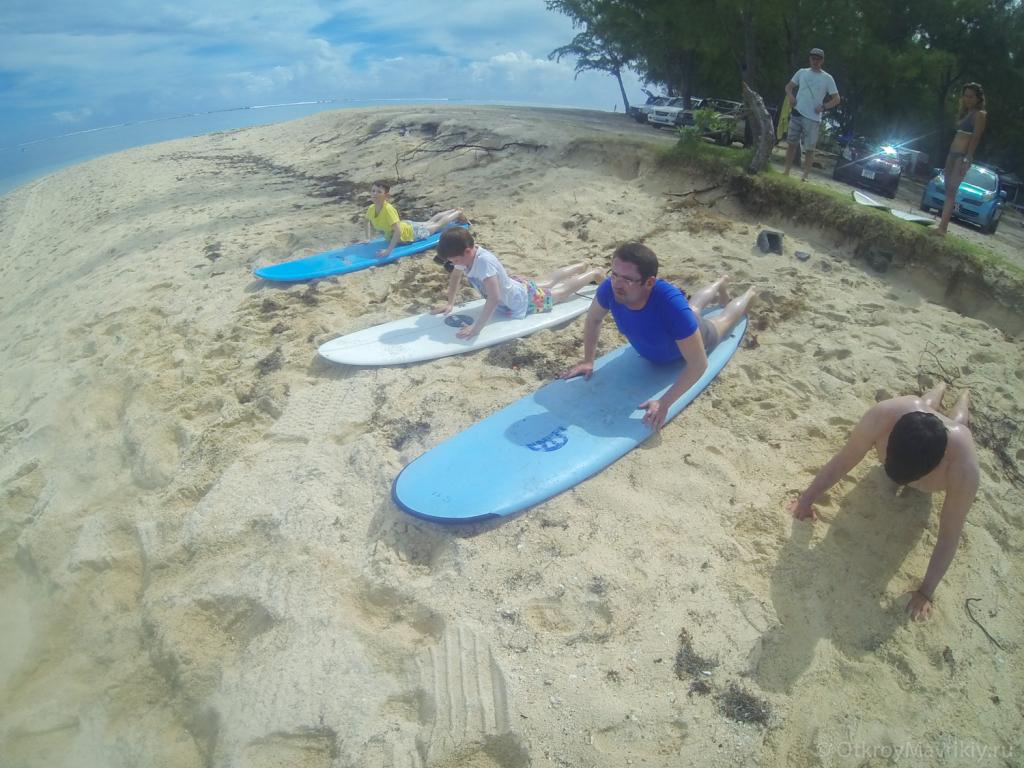 Тренировка на берегу
