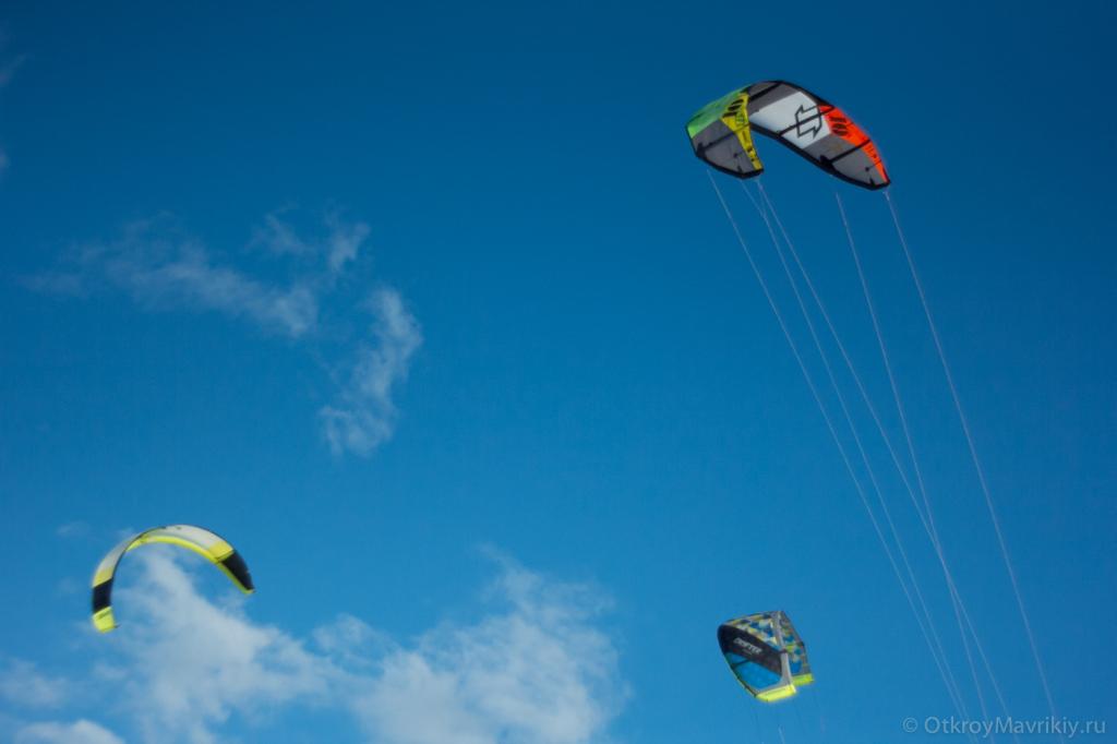 Кайты в небе Маврикия