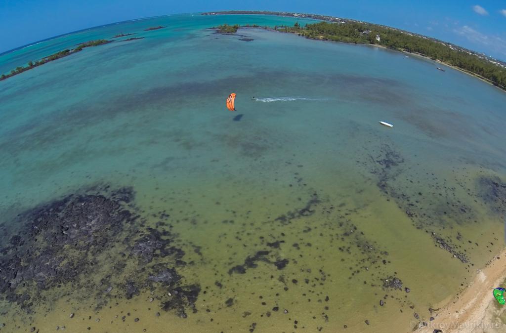 Кайт лагуна Anse la Raie на севере острова Маврикий