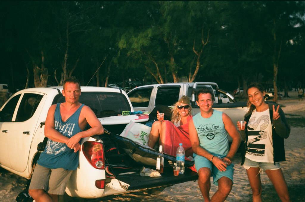 Друзья на берегу в Леморне, остров Маврикий