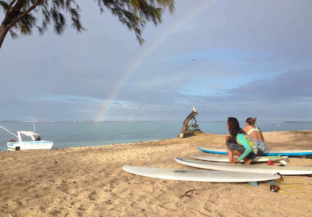 Кайт и серф лагерь на острове Маврикий. Перед серфингом