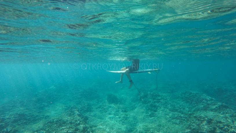 Кайт и серф лагерь на острове Маврикий. На серф-споте