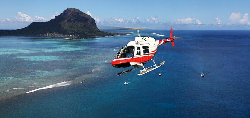 Маврикий вертолет полет Леморне