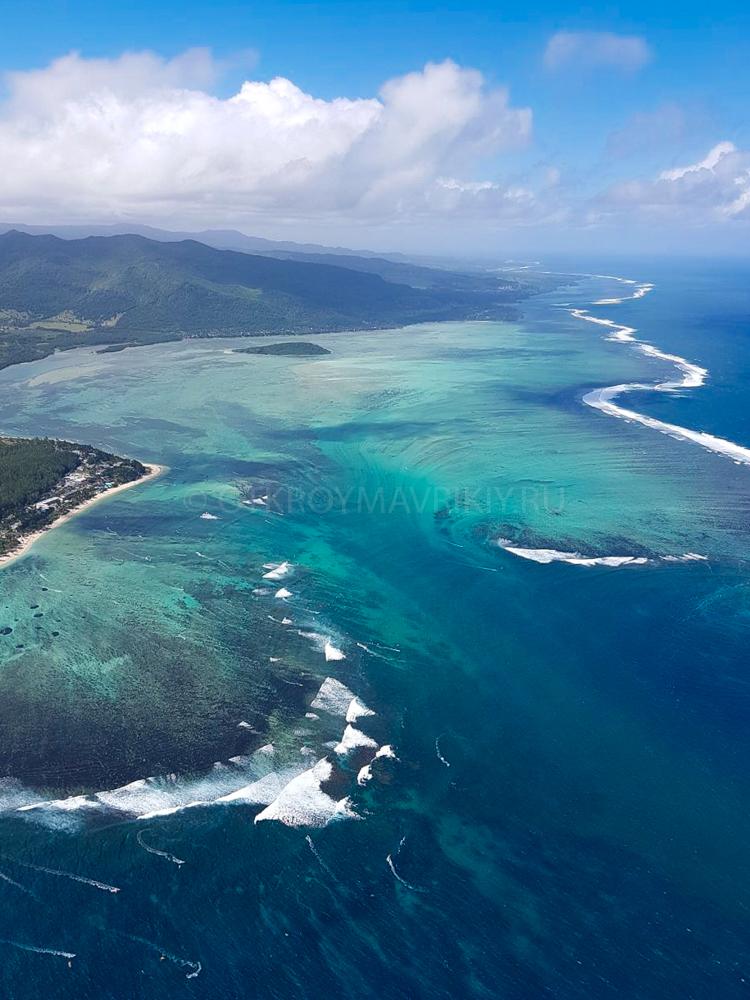 Гидроплан полет Маврикий